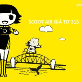 Scoot air khuyến mãi di quốc tế giá từ 31USD