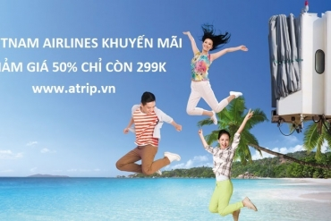 Vietnam Airlines khuyến mãi chào hè 2018 giảm giá 50%