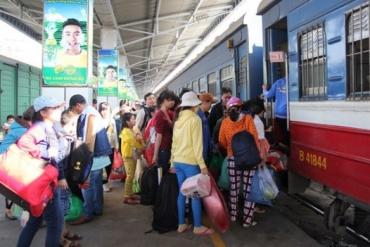 Giờ tàu hỏa tết 2019 Hà Nội - Sài Gòn